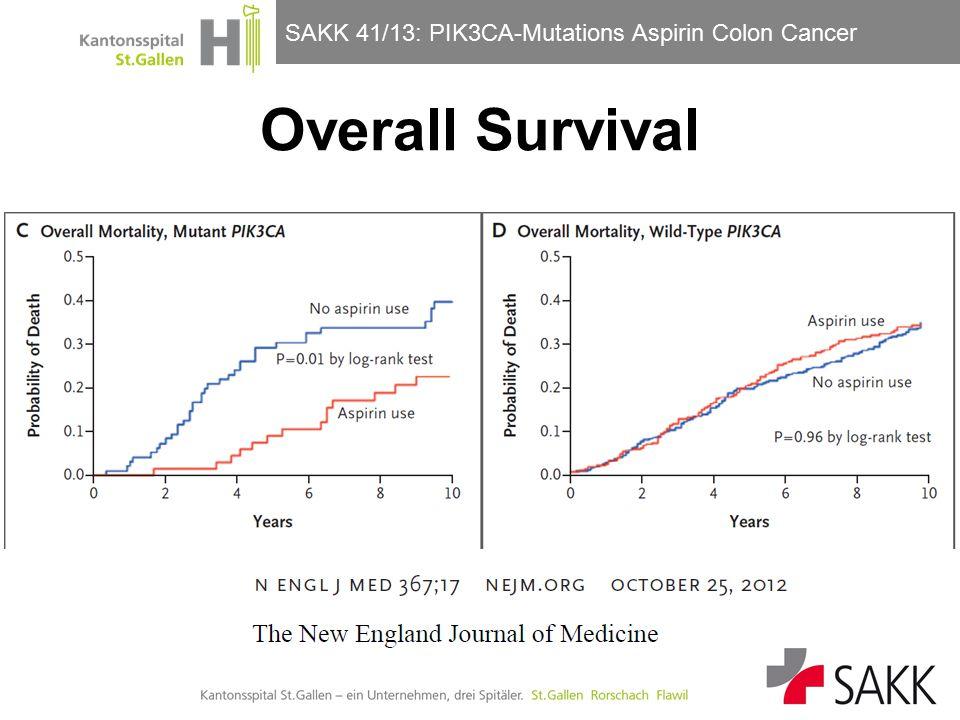 SAKK 41/13: PIK3CA-Mutations Aspirin Colon Cancer Güller/Horber Overall Survival