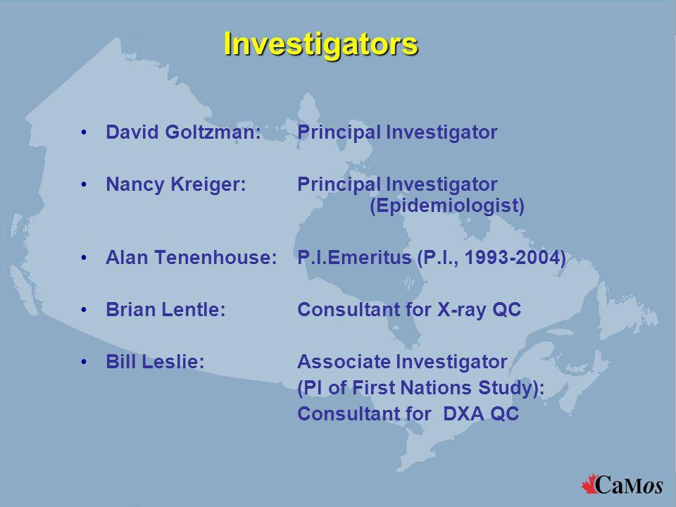 Investigators David Goltzman: Principal Investigator Nancy Kreiger: Principal Investigator (Epidemiologist) Alan Tenenhouse:P.I.Emeritus (P.I., 1993-2