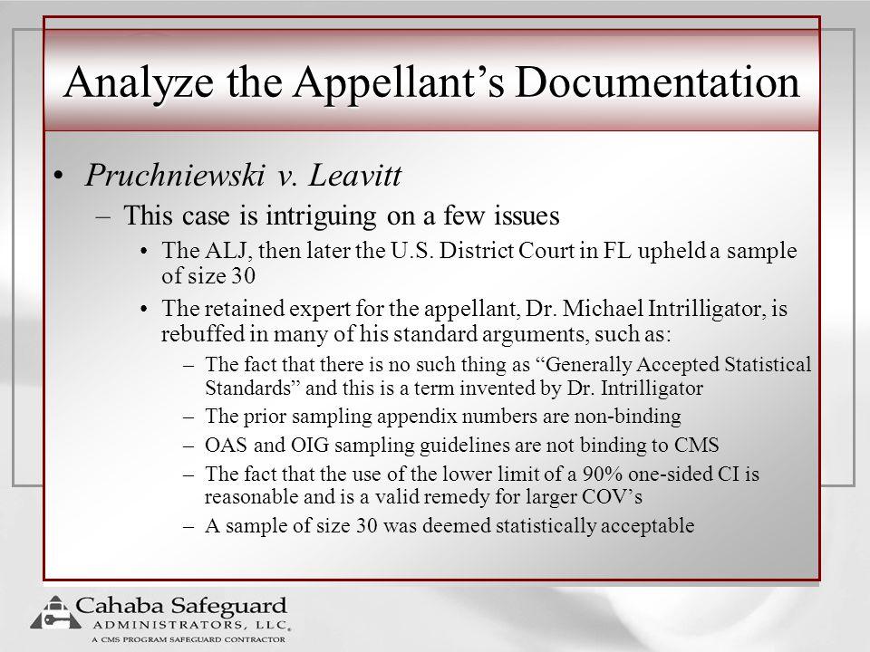 Analyze the Appellant's Documentation Pruchniewski v.