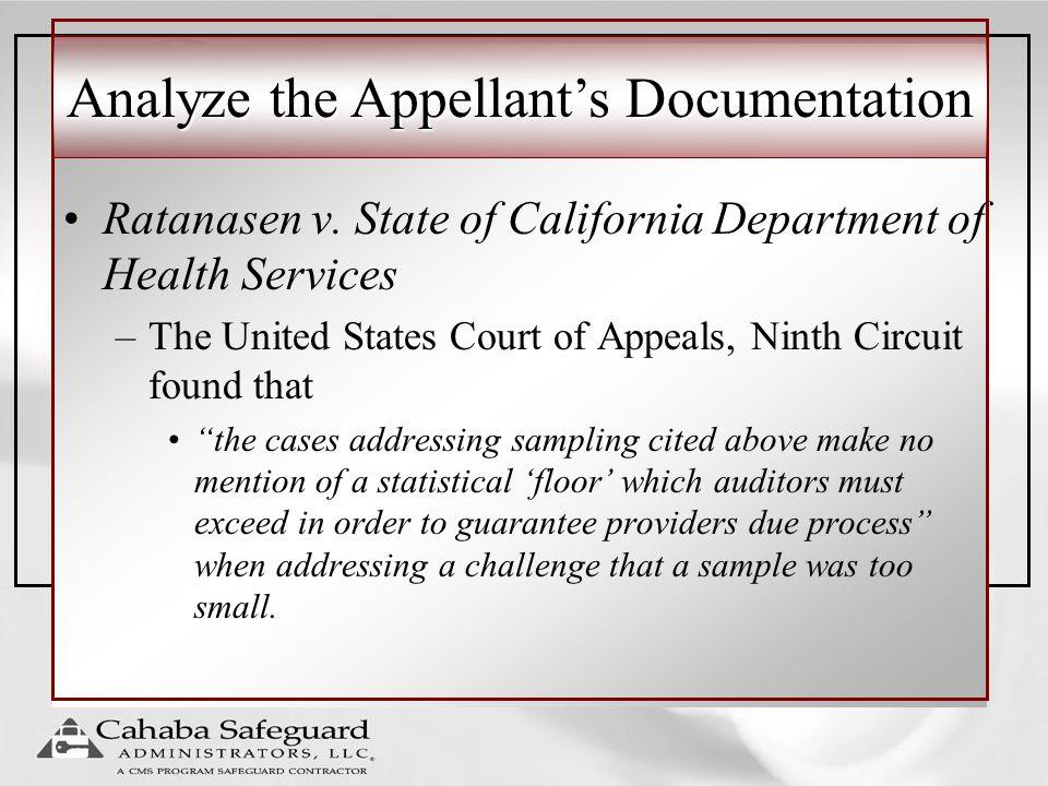 Analyze the Appellant's Documentation Ratanasen v.