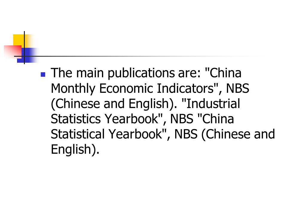 The main publications are: