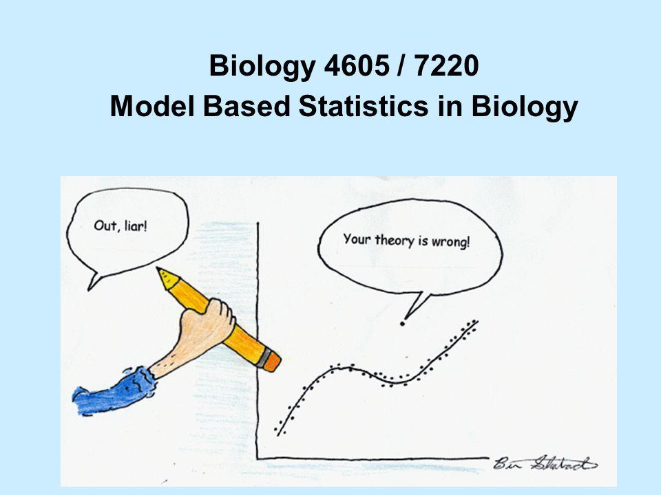 Biology 4605 / 7220 Model Based Statistics in Biology