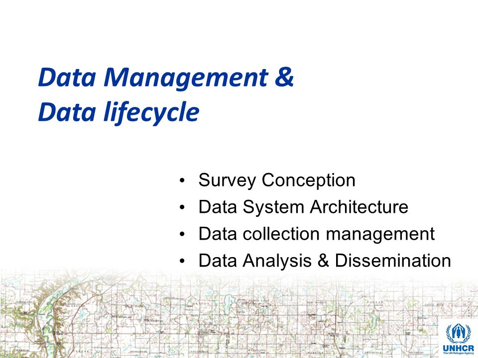 Data Management & Data lifecycle Survey Conception Data System Architecture Data collection management Data Analysis & Dissemination