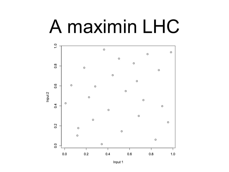 A maximin LHC