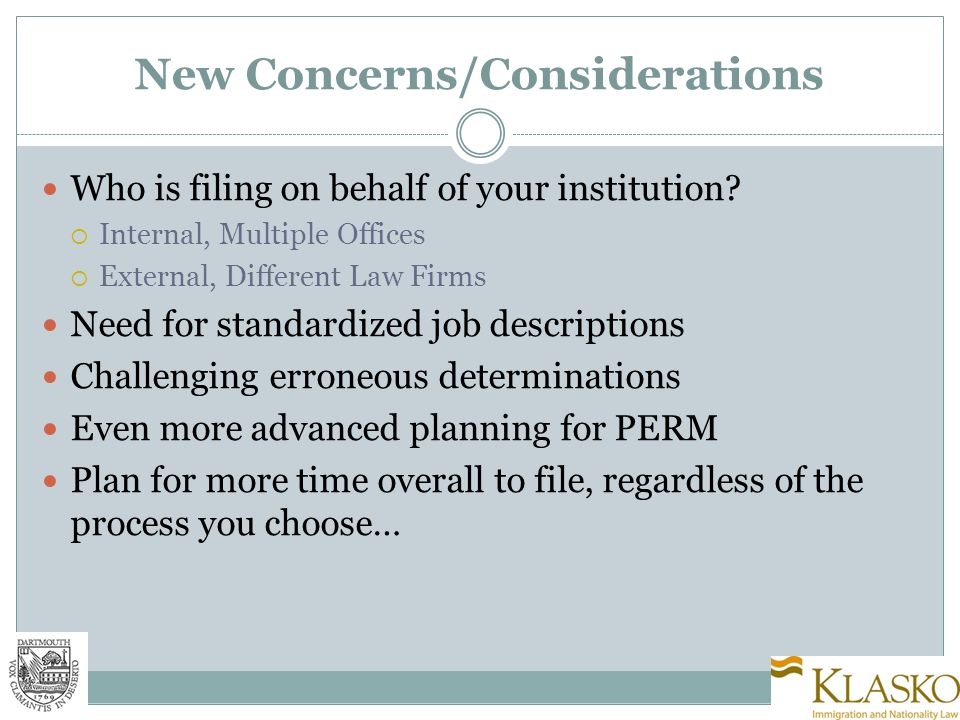 New Concerns/Considerations Who is filing on behalf of your institution.