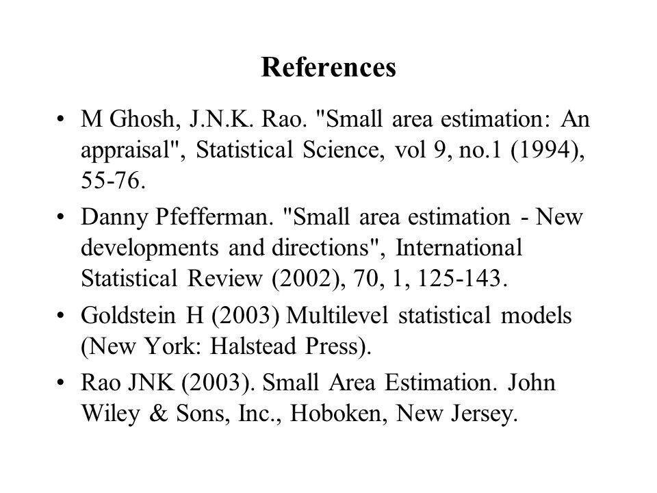 References M Ghosh, J.N.K. Rao.