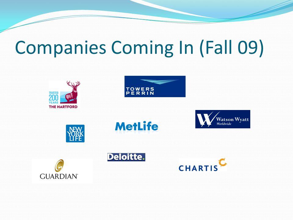 Companies Coming In (Fall 09)