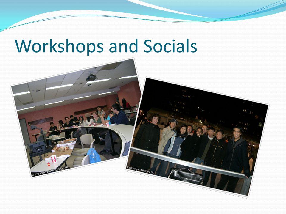 Workshops and Socials