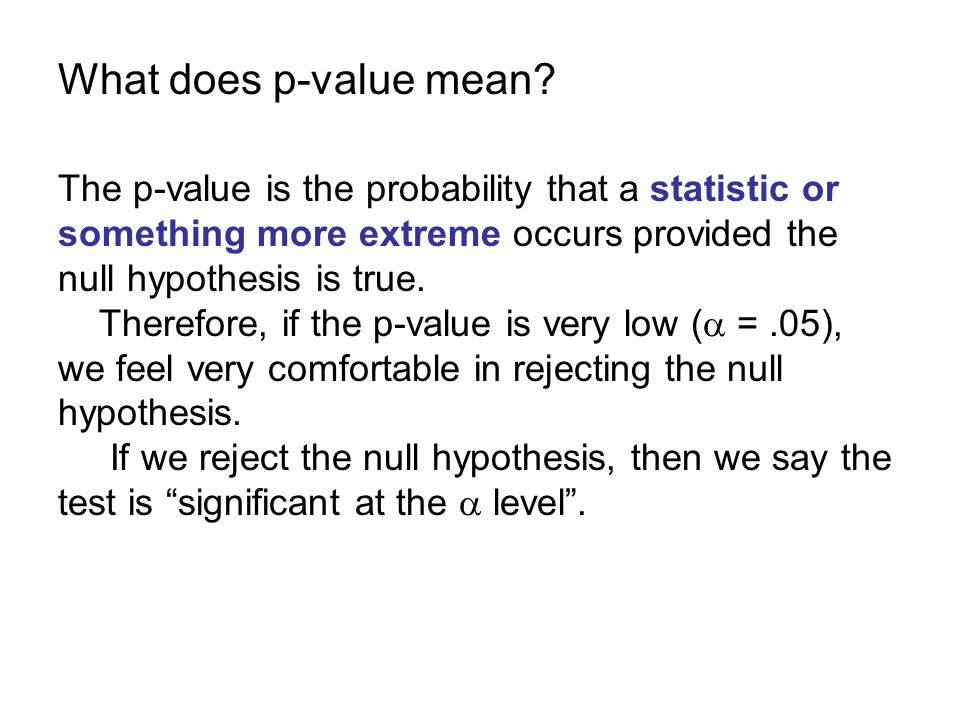 What does p-value mean.