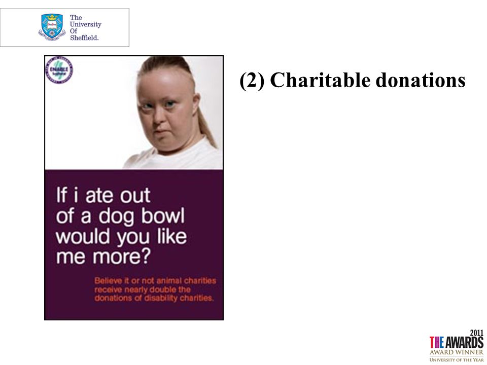 (2) Charitable donations