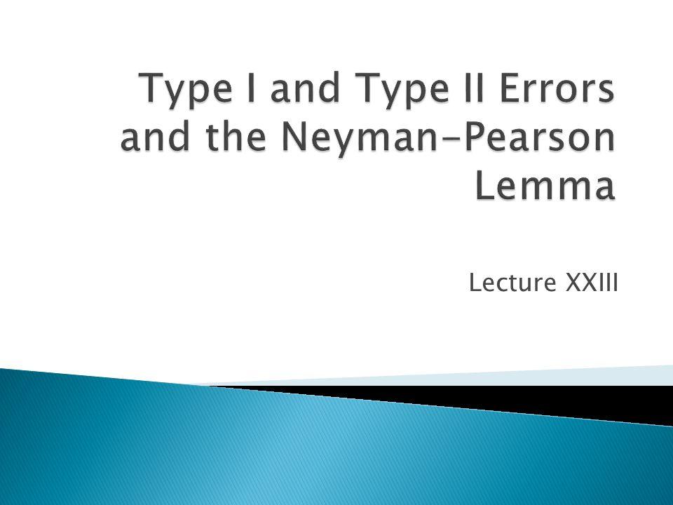Lecture XXIII