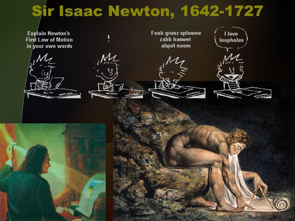 Sir Isaac Newton, 1642-1727