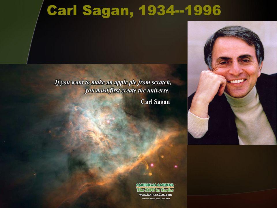 Carl Sagan, 1934--1996