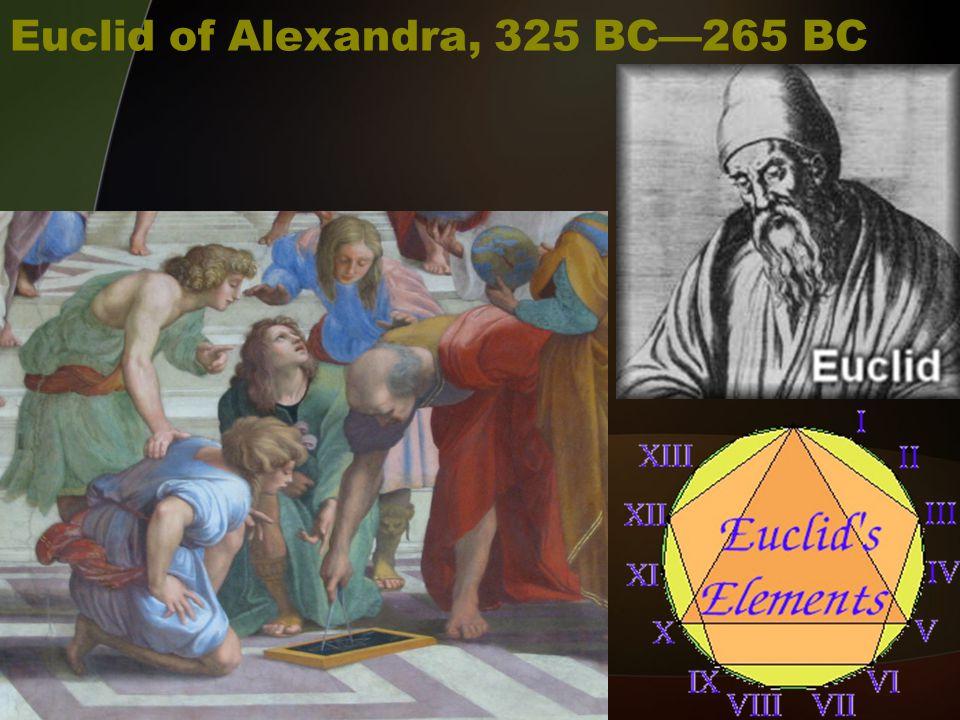 Euclid of Alexandra, 325 BC—265 BC