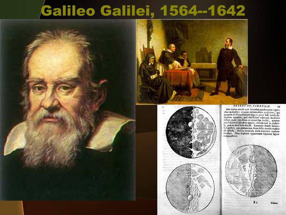 Galileo Galilei, 1564--1642