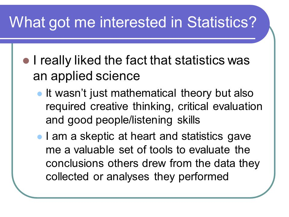 What careers are out there for Statisticians.