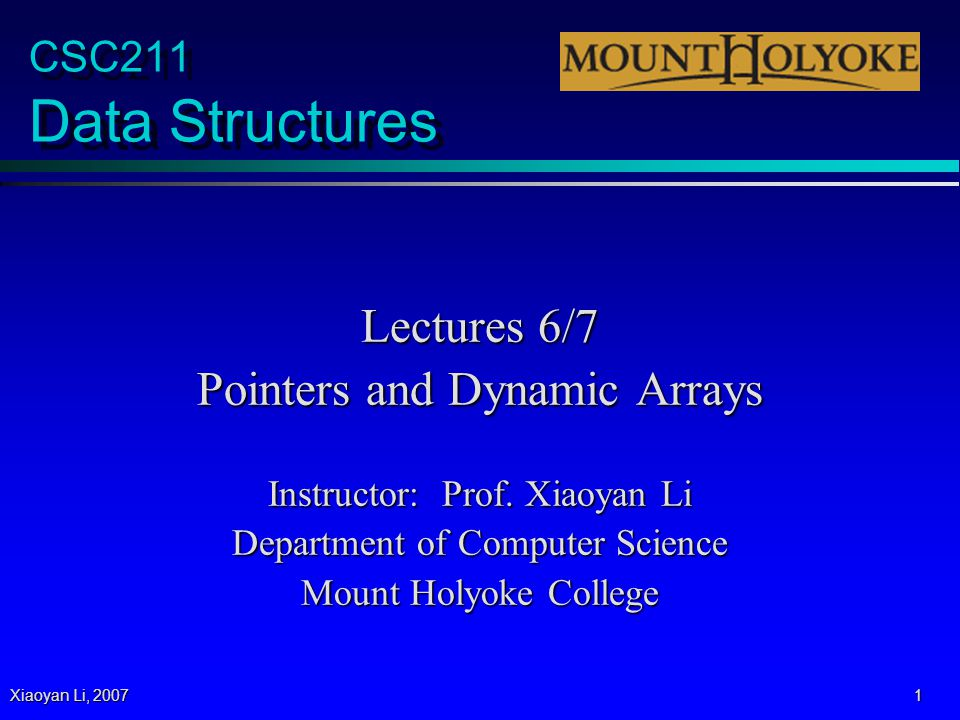 Xiaoyan Li, 2007 32 Programming Assignment 2 p Detailed guidelines online.