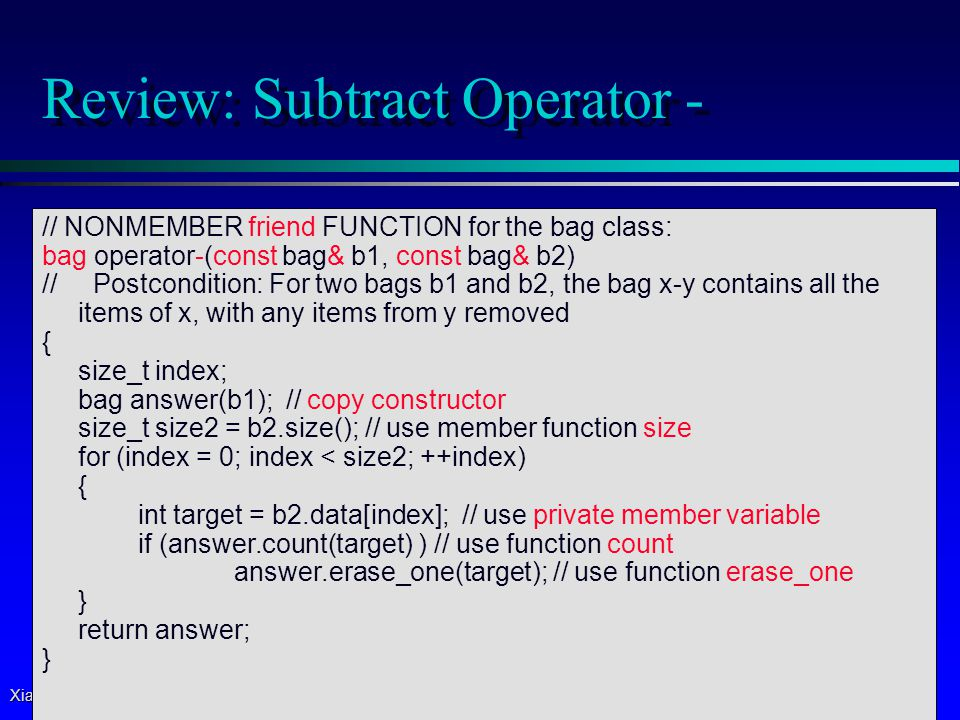 Xiaoyan Li, 2007 37 Outline (Reading Ch 4.1 – 4.2) (Next Lecture) p Pointers p *(asterisk) and &(ampersand) operators  Dynamic Variables and new Operator p Dynamic Arrays and Dynamic Objects p Stack (local) vs.