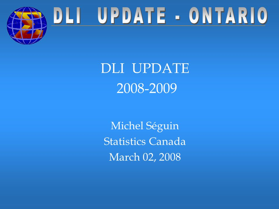 u Organizational changes u Changes in the DLI Community u Changes in the EAC and Education Committees u Changes in the DLI Collection u Present Projects – priorities u Annual report 2006/2007 u Compleat Survival Kit u DLI Interface and IMDB u DDI u DLI contacts and designates survey