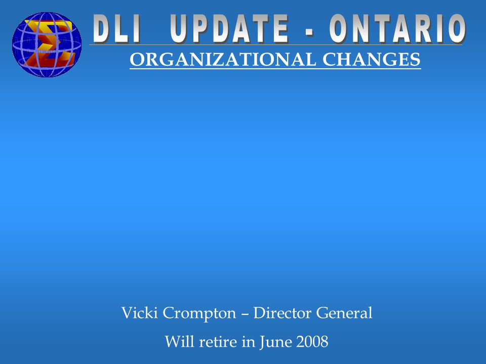 ORGANIZATIONAL CHANGES Director of Communications and Library Services Division Eric St. John