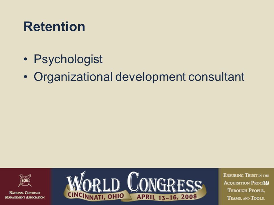 10 Retention Psychologist Organizational development consultant