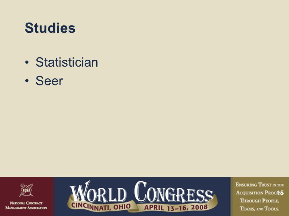 15 Studies Statistician Seer