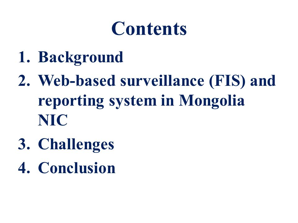 Way ahead… Develop the more comprehensive data analysis and reports; Improve the sentinel sites access to internet; Develop the English version;