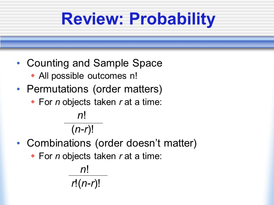 Example: The proverbial Statistician's Urn.