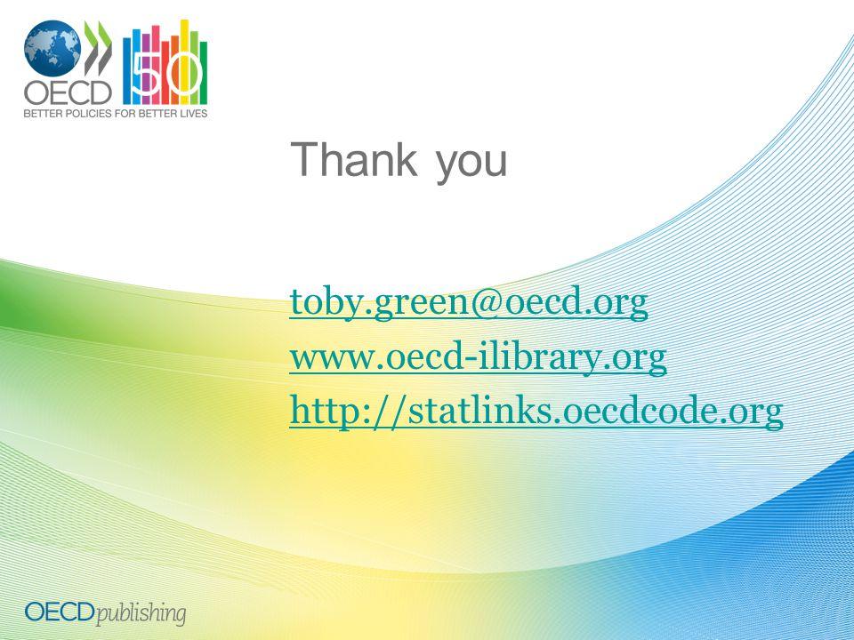 Thank you toby.green@oecd.org www.oecd-ilibrary.org http://statlinks.oecdcode.org