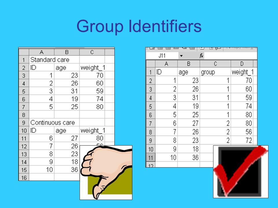 Group Identifiers