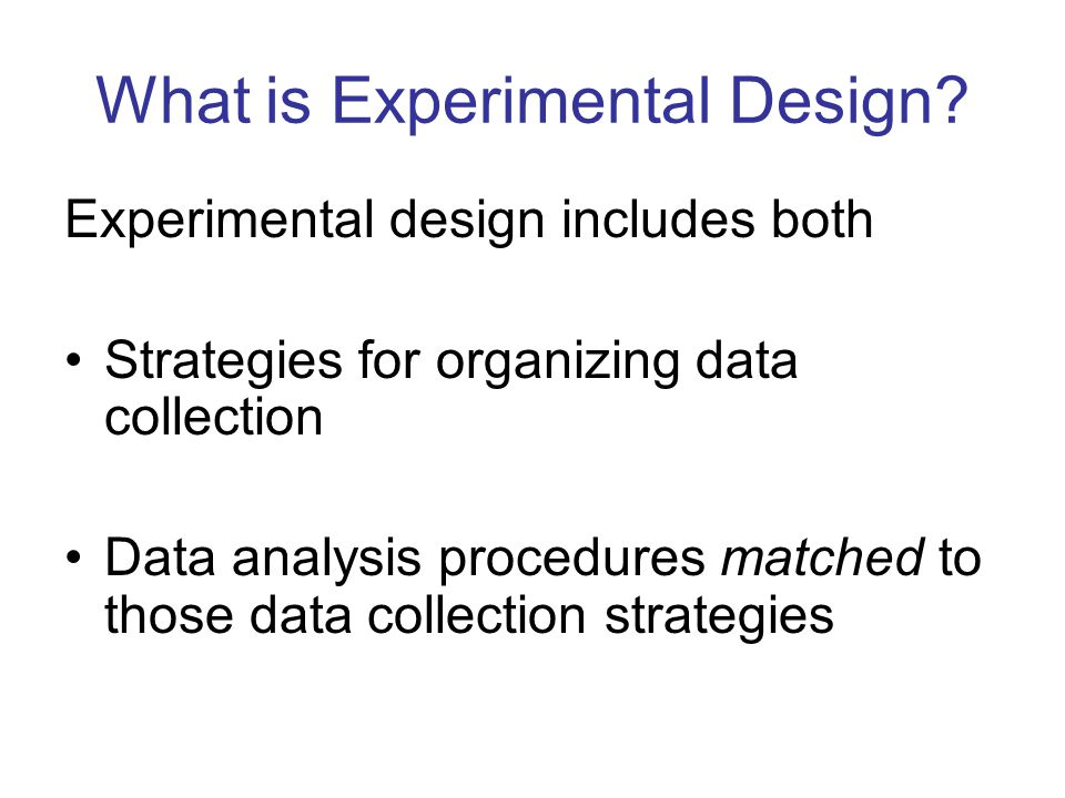 Why Do We Need Experimental Design.