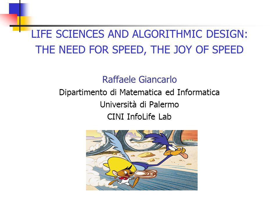 Discrete Algorithms and Bioinformatics - A data deluge…ehm, universal - Remedies Part 2: - Algorithmic foundational work to: Break the Big Data Wall!!!