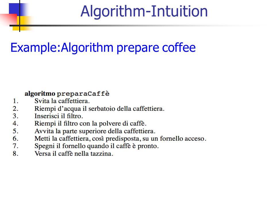 Algorithm-Intuition Example:Algorithm prepare coffee