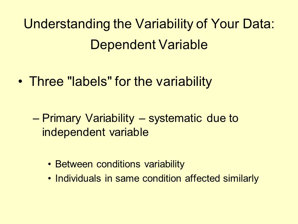 Understanding the Variability of Your Data: Dependent Variable Three