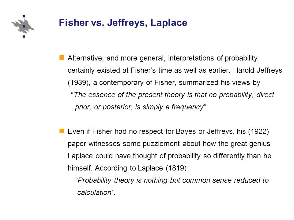 Fisher vs.