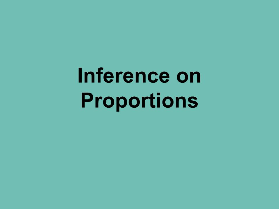 Inference on Proportions