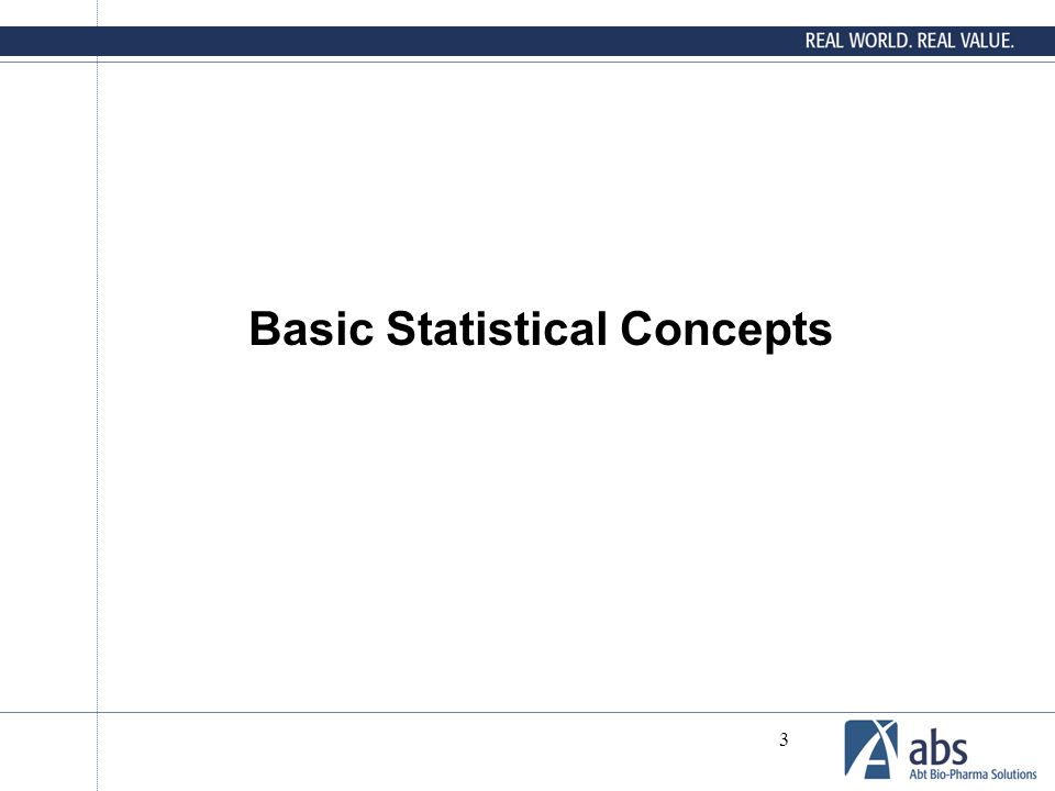 3 Basic Statistical Concepts