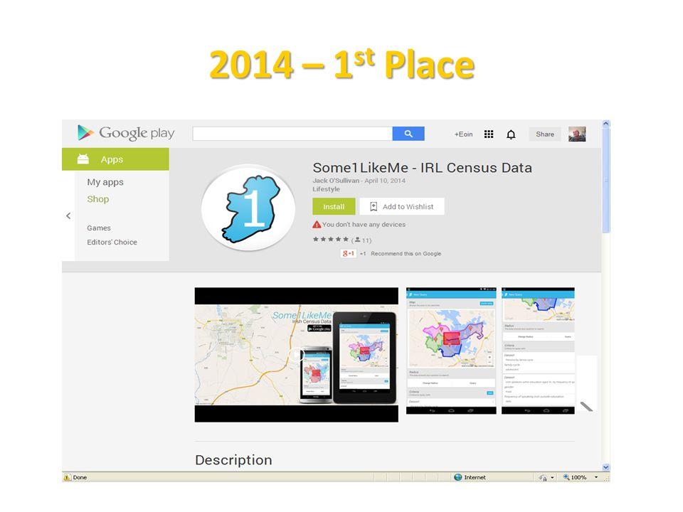 2014 – 1 st Place