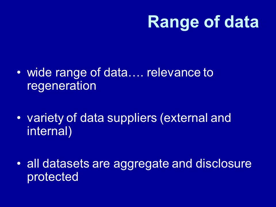 Range of data wide range of data….