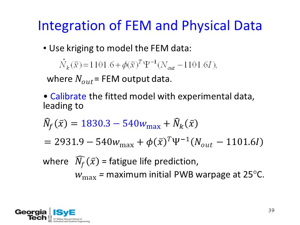 39 Integration of FEM and Physical Data