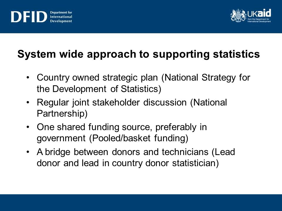 What does DFID particularly look for when considering funding.