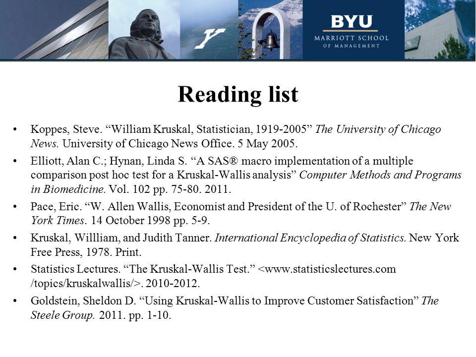 Reading list Koppes, Steve.
