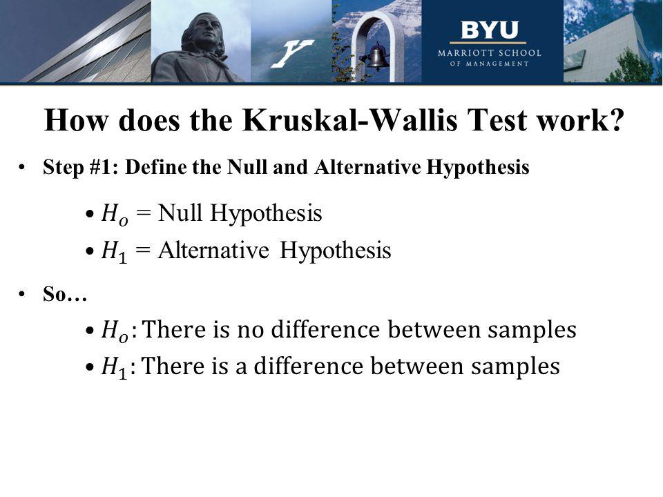 How does the Kruskal-Wallis Test work