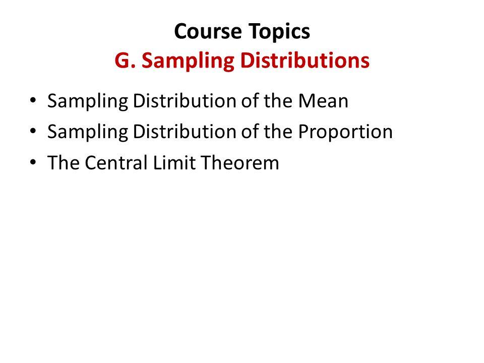 Course Topics G.