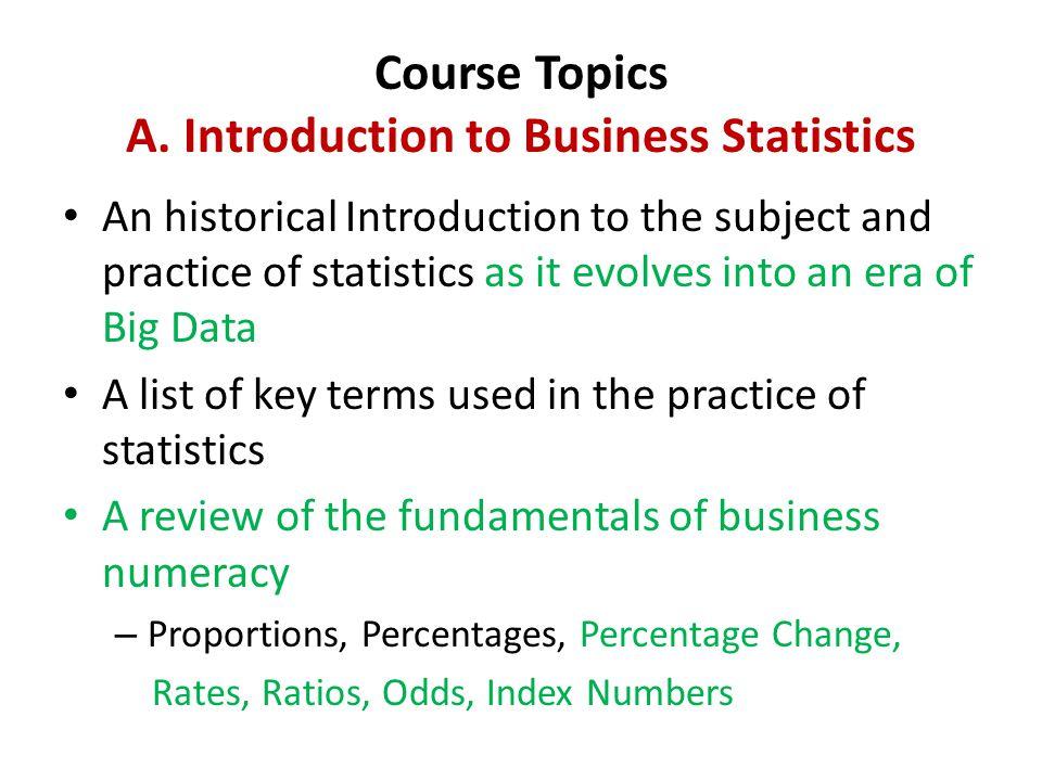 Course Topics A.