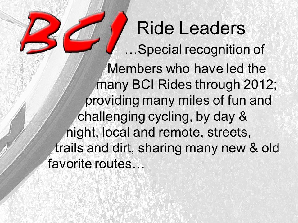 Ride Leaders.