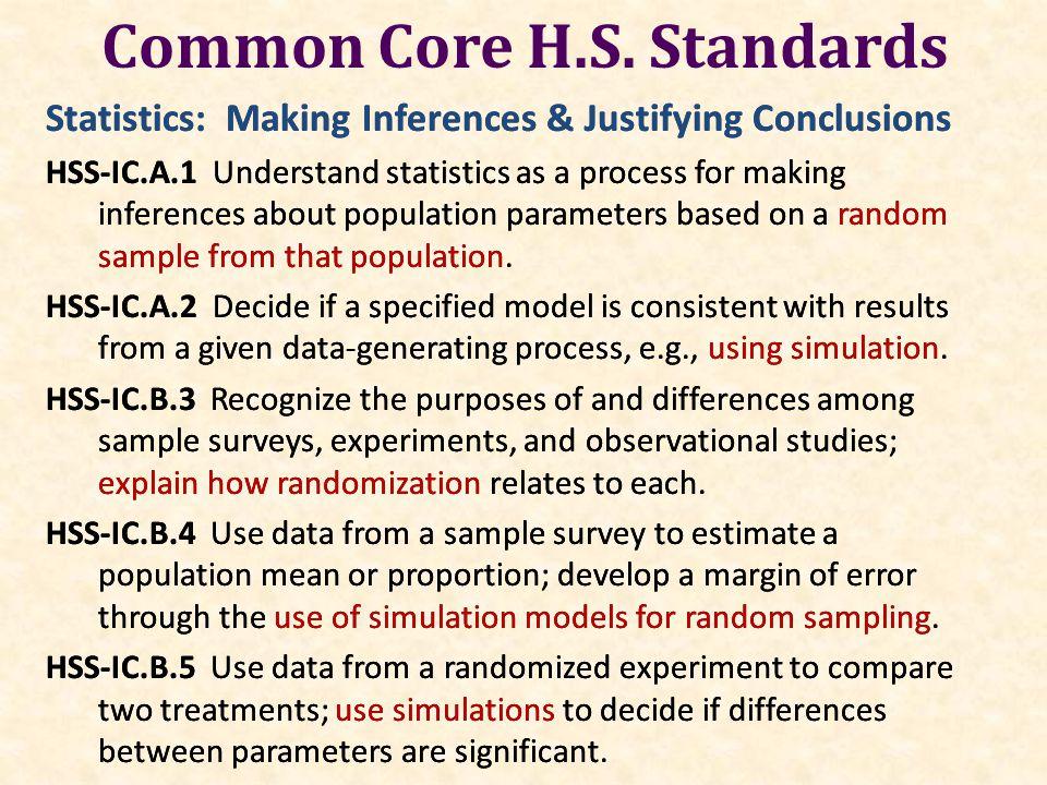 Common Core H.S.