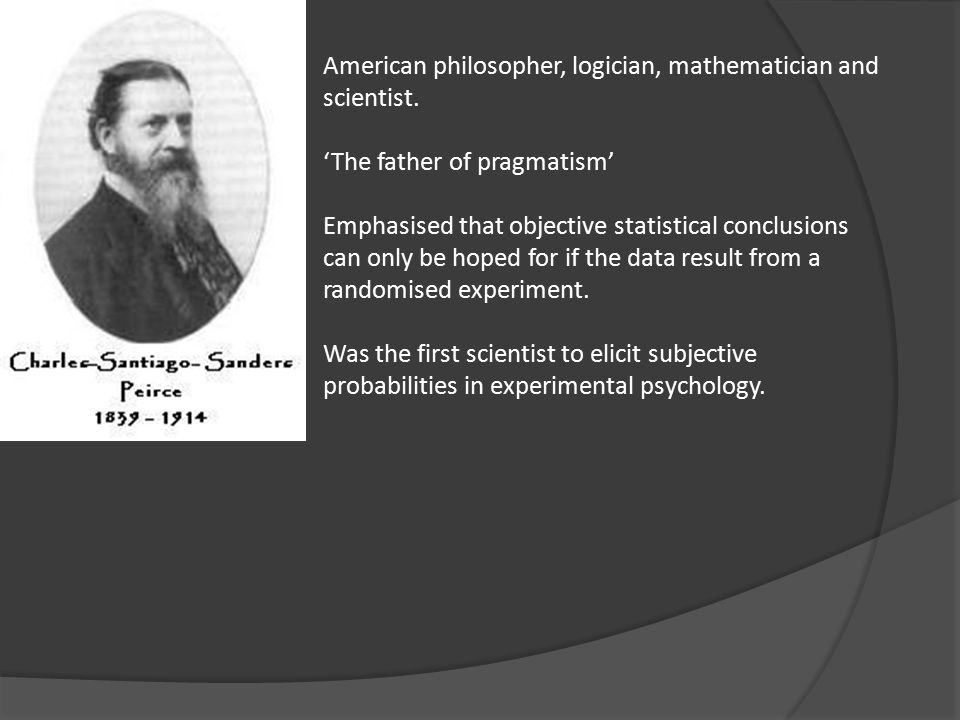 American philosopher, logician, mathematician and scientist.