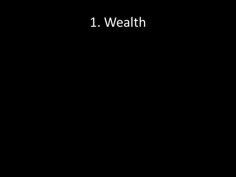1. Wealth