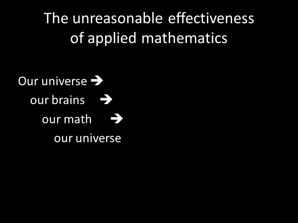 Our universe  our brains  our math  our universe
